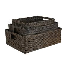 Top Walnut Brown Sizes Shown From Open Wicker Storage Baskets Basket Lady  With Basket Lady Underbed