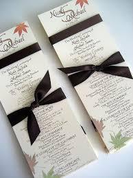Fall Wedding Program Templates October 20 Pinterest Wedding
