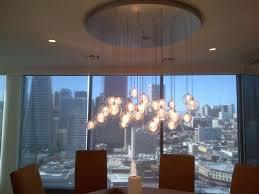kadur custom blown glass chandelier modern custom light dining room contemporary dining