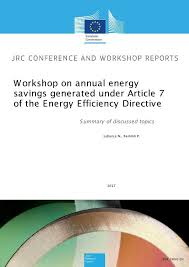 workshop on annual energy savings generated through energy  workshop on annual energy savings generated through energy efficiency obligation schemes and alternative measures implemented under eed article 7 summary