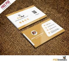 Free Psd Business Card Templates Restaurant Chef Business Card Template Free Psd On Behance