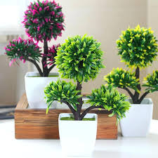 decorative plants for office. Office Desk Flowers Shop Decorative Flower Small Bonsai Pot Planters Artificial Plants Mini Real Touch Fake Plant Tree On Ball Shape From Chairs Walmart For S