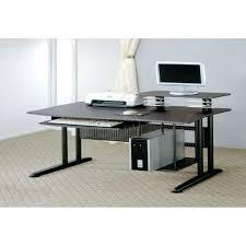 excellent desk office. Excellent Desk Long Black Glass Computer For Ordinary Office N