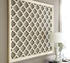 lattice panel wall art white wood