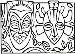 Small Picture African Mask Coloring Page Free Africa Coloring Pages