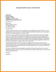Awesome Collection Of Cover Letter Format College Student For Your