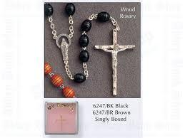 my rosary beads black wood