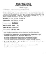 Respiratory Therapist Resume Templates Respiratory Therapist Resumee Resumes Templates Entry Level New 19