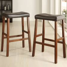 padded saddle bar stools. Excellent Furniture Upholstered Saddle Bar Stools For Kitchen Ideas Modern Wood And Leather Wooden Breakfast Dark Padded N