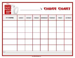Minion Behavior Chart Big Hero 6 Chore Chart Free Printable Allfreeprintable Com
