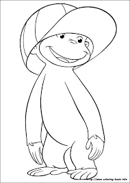 curious george coloring pages wearing hat curious george coloring pages