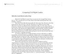 comparing civil rights leaders malcolm x and martin luther king  document image preview