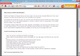 Word Reader Free Word Reader Microsoft Word Reader Foxpdf Word