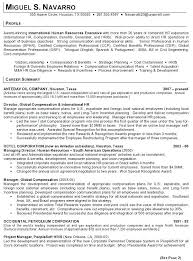 Director Of Human Resources Resume Human Resources Generalist Resume