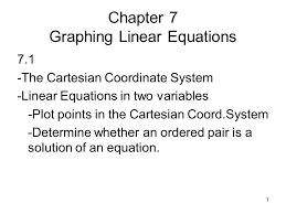 chapter 7 graphing linear equations