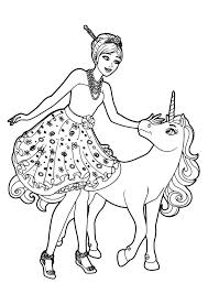 Disegno Di Barbie Principessa Odette E Dellunicorno Lila Da