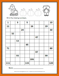 Blank 120 Chart Free 24 Thorough Fill In The Blank Number Chart Worksheets