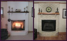 brick fireplace makeover for holiday season for luxury painting brick fireplace ideas