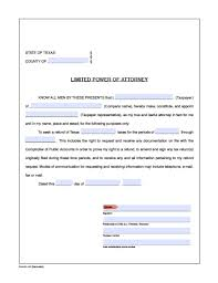 Limited Power Of Attorney Form Texas Tax Power Of Attorney Form Power Of Attorney Power Of Attorney 17
