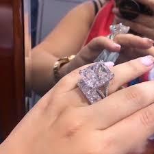 Jerula Stunning Brilliant 23 Ct Cushion Cut Lab Created Diamond Ring With A Radiant Cut Eternity Band