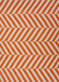 herringbone moroccan salma wool rug orange