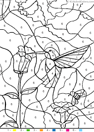 Small Picture Animalcolorbynumber color by number hummingbird coloring pages