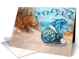 Sand Card Beach Themed Holiday With Seasons Greetings In The Sand Card