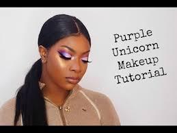 purple unicorn makeup tutorial brown skin