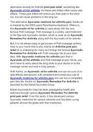 pain relief medicine in ayurveda