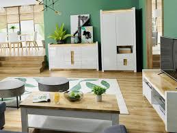 modern white high gloss living room