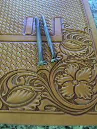 after thumbprinting or pear shading you are ready for any fine detail stamping this step depends a lot on the style of the pattern that you are tooling