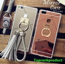 huawei p9 lite case. huawei p9 / lite plus mirror silicone case cover casing + free gift