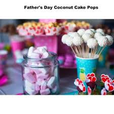 Fathers Day Coconut Cake Pops Cake Pops Parties