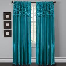 Amazon.com: Lush Decor Circle Dream Window Curtain Panels, Turquoise, Set  of 2: Home & Kitchen