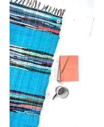 rag rug in blue runner
