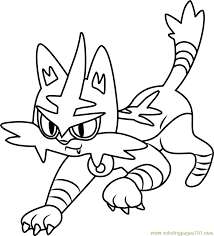 Small Picture Torracat Pokemon Sun and Moon Coloring Page Free Pokmon Sun and