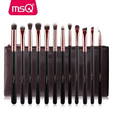 full makeup brush set. msq 12pcs eyeshadow makeup brushes set pro rose gold eye shadow blending make up soft synthetic hair for beauty-in underwear from mother \u0026 kids on full brush