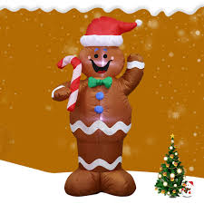 Gingerbread Outdoor Lights Us 31 49 26 Off 1 5m Christmas Inflatable Led Gingerbread Man Cookie With Led Lights Outdoor Yard Airblown Decoration Fun Party Indoor Display On