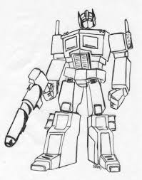 Small Picture Optimus Prime Coloring Pages esonme
