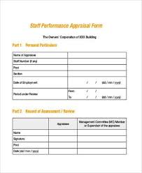 Simple Appraisal Form Beauteous Simple Appraisal Forms 48 Free Documents In Word PDF