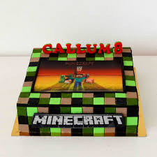 Minecraft Pictures To Print Minecraft Sugar Print Cake Vanilla Sponge Cake Filled With Flickr