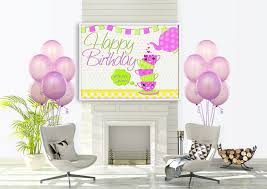 happy birthday customized banners cup decorations birthday custom banner for kids party decor