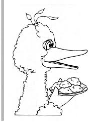 Small Picture Big Bird Coloring Pages anfukco
