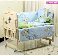 5pcs set baby bedding sets 100 cotton baby bedclothes cartoon crib bedding set include pillow pers mattress