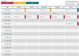 Class Schedule Template Online Semester Schedule Maker Barca Fontanacountryinn Com