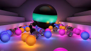 Multi-colored glowing balls - Android ...