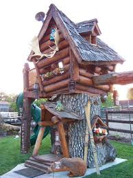 images about tree house heaven on Pinterest   Tree Houses    Custom Tree House   real log construction