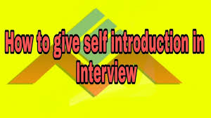 Interview Introduction How To Give Self Introduction In An Interview English Mania