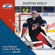 Everett Silvertips' Dustin Wolf Recognized as Dave Peterson Goalie of the  Year