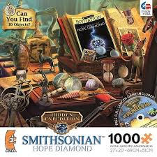 All hidden object games are 100% free, no payments, no registration required. Ceaco Hidden Expedition Smithsonian Hope Diamond Curator S Desk 1000 Piece Jigsaw Puzzle With Cd Game Get4school